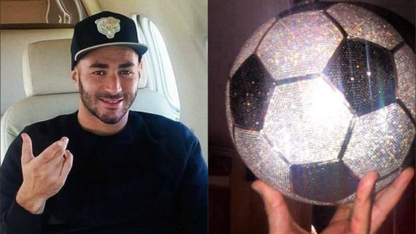 Karim Benzema spends £250,000 on diamond-encrusted football