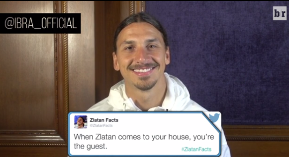 Zlatan Ibrahimovic reads his favourite 'Zlatan Facts'