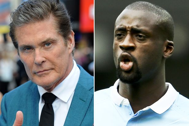 David Hasslehoff is Yaya Toure's biggest fan