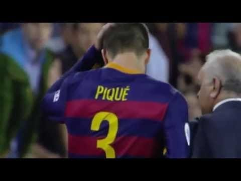 Pique gets sent off for insulting the linesman